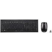 Kit tastatura si mouse Wireless HAMA Cortino, USB, Layout RO, negru