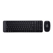Kit mouse si tastatura wireless, Logitech MK220, negru